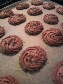 チョコクッキー作り